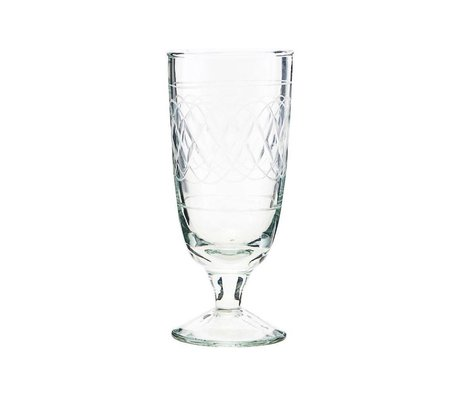 Housedoctor Beer glass vintage clear glass Ø6,5x15cm