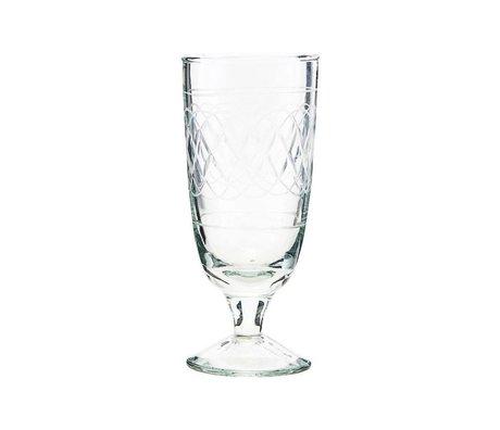 Housedoctor Bicchiere da birra vintage in vetro trasparente Ø6,5x15cm