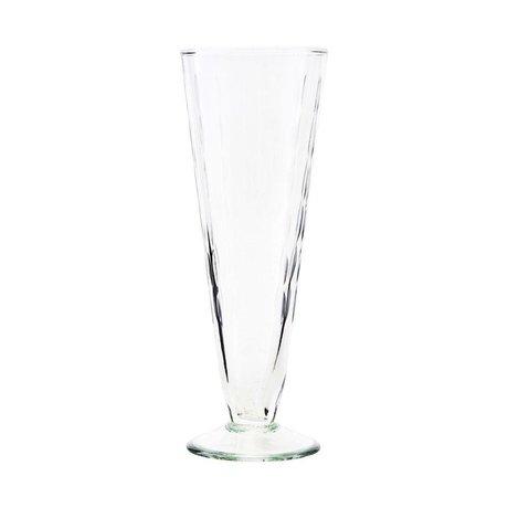 Housedoctor Copa de champán de cristal transparente vintage Ø7x20cm