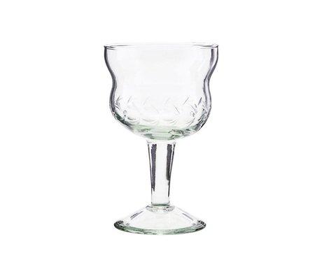 Housedoctor Verre à vin rouge Vintage verre clair Ø8x13cm