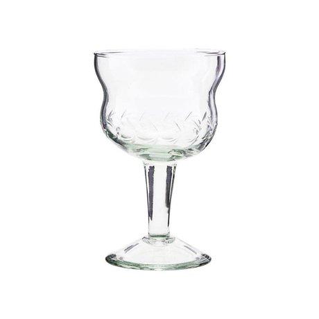 Housedoctor Rotweinglas Vintage Klarglas Ø8x13cm