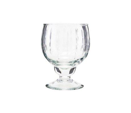 Housedoctor Bicchiere da vino bianco Vintage vetro trasparente Ø7x12,5cm