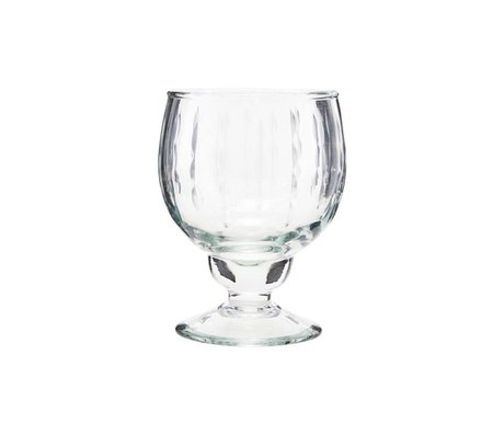 Housedoctor White wine glass Vintage clear glass Ø7x12,5cm