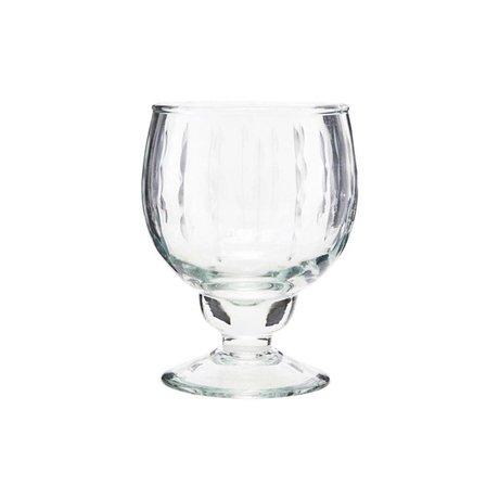 Housedoctor Copa de vino blanco vintage cristal transparente Ø7x12,5cm