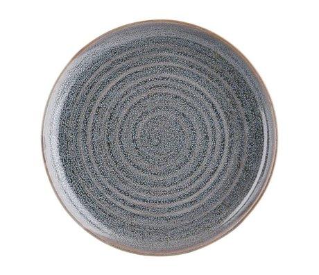 Housedoctor Assiette plate Nord Grey en terre cuite Ø28cm