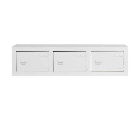 vtwonen Mobile TV divano a castello Depot bianco pino 177x41x45cm