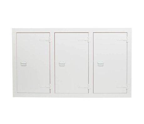 vtwonen Buffet Armoire superposée en pin blanc 177x41x102cm