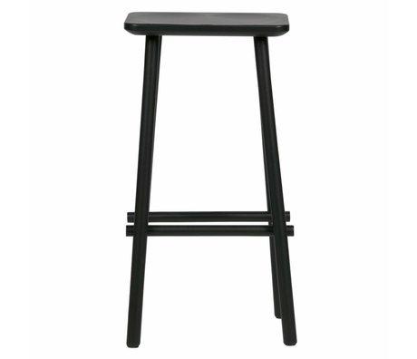 vtwonen Tabouret de bar bout bois noir 40x30x76cm