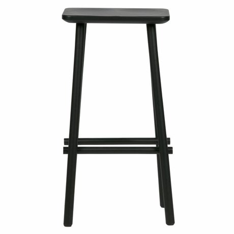 vtwonen Barstool Butt black wood 40x30x76cm
