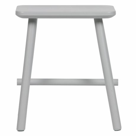 vtwonen Stool Butt concrete gray wood 40x30x46,5cm