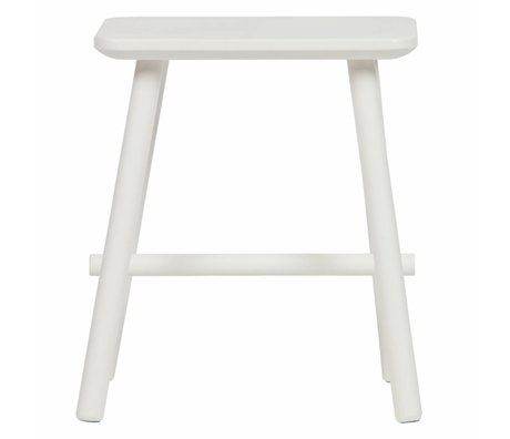 vtwonen Stool butt white wood 40x30x46,5cm