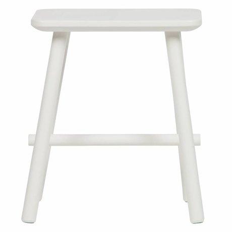 vtwonen Tabouret bout à bout bois blanc 40x30x46,5cm