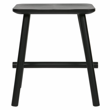 vtwonen Stool Butt black wood 40x30x46,5cm