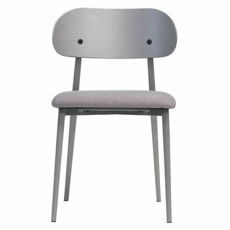 vtwonen Dining chair Class gray wood textile set of 2 50x51x79cm