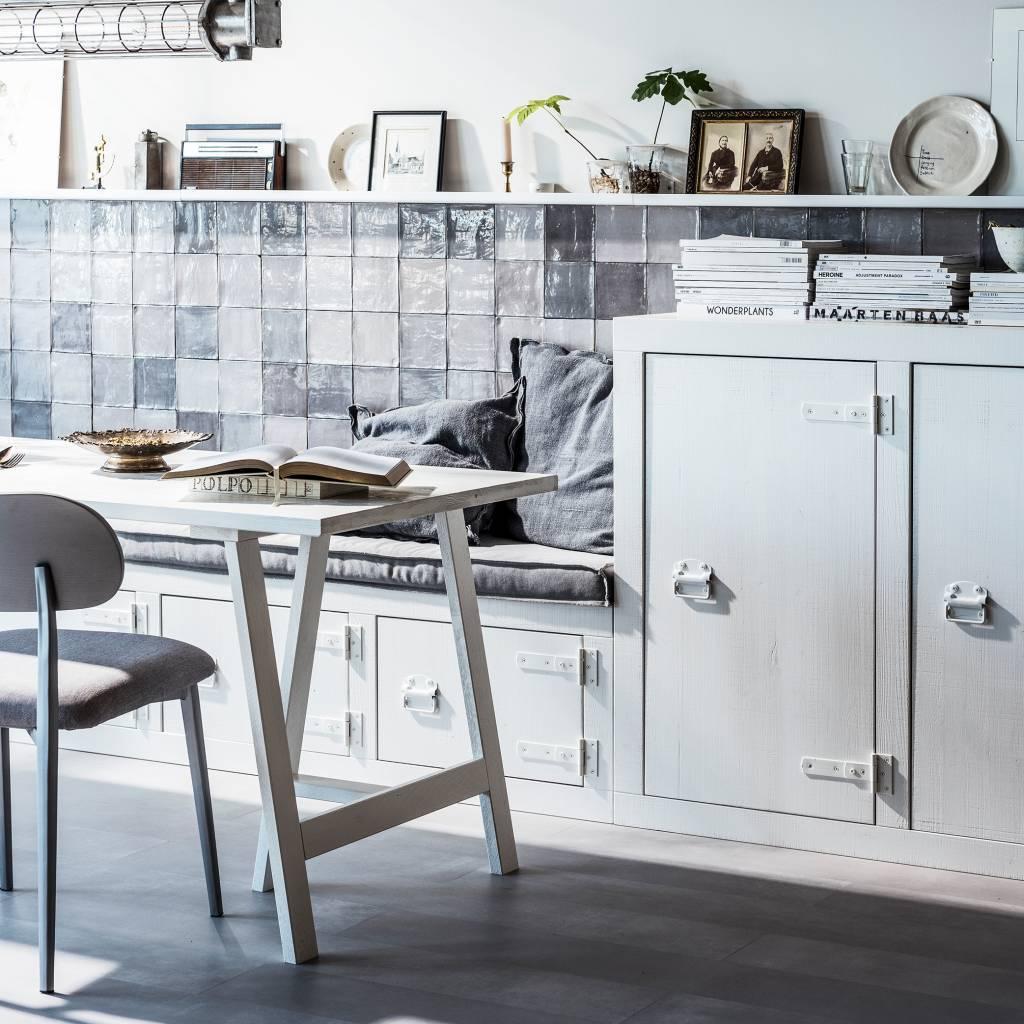 Vtwonen Dining Chair Class Gray Wood Textile Set Of 2 50x51x79cm Lefliving Com