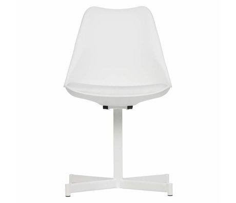 vtwonen Dining chair Flow Plastic Textile white Set of 2 56x48x84cm