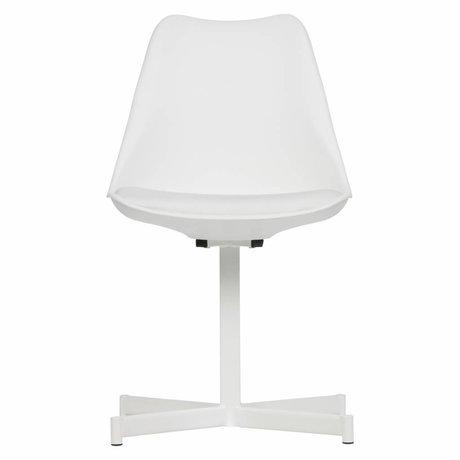 vtwonen Chaise de salle à manger Flow Plastic Textile blanc Set de 2 56x48x84cm
