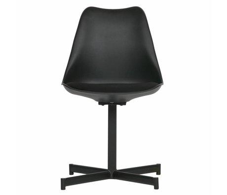 vtwonen Dining chair Flow black plastic textile set of 2 56x48x84cm