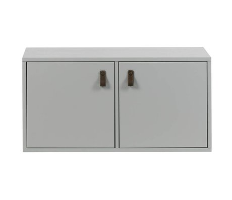 vtwonen Case two doors pine concrete gray wood 81x35x41cm
