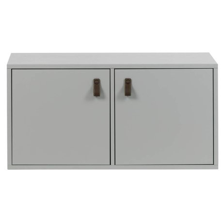 vtwonen Cas deux portes en béton de pin gris bois 81x35x41cm