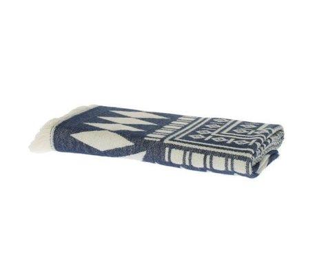 Riverdale Plaid azteca de algodón azul oscuro 130x180cm