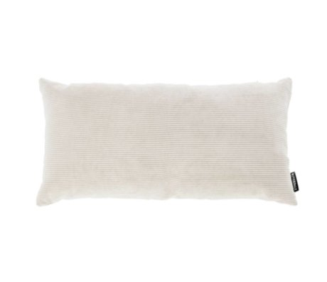 Riverdale Cushion rib knit light gray textile 25x50cm