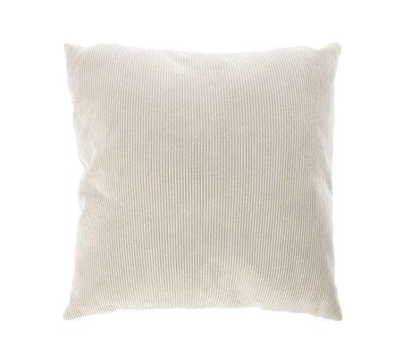 Riverdale Throw pillows Ribcord light gray textile 45x45cm