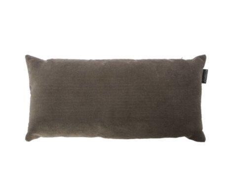 Riverdale Pude Ribcord mørkegrå tekstil 25x50cm