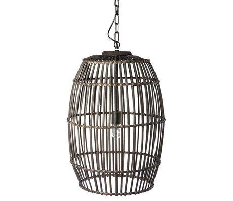 Riverdale Hængende lampe urban sort bambus ø47x69cm
