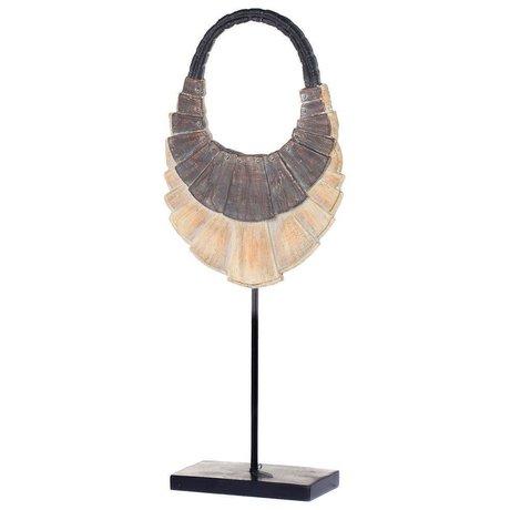 Riverdale Ornament halskæde brun plast metal 55cm