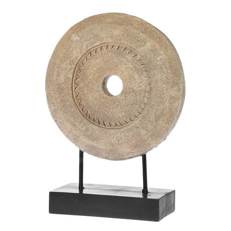 Riverdale Adorno piedra de molino marrón polyresin 46cm