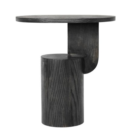 Ferm Living Beistelltisch aus schwarzem Holz 49x34x50cm