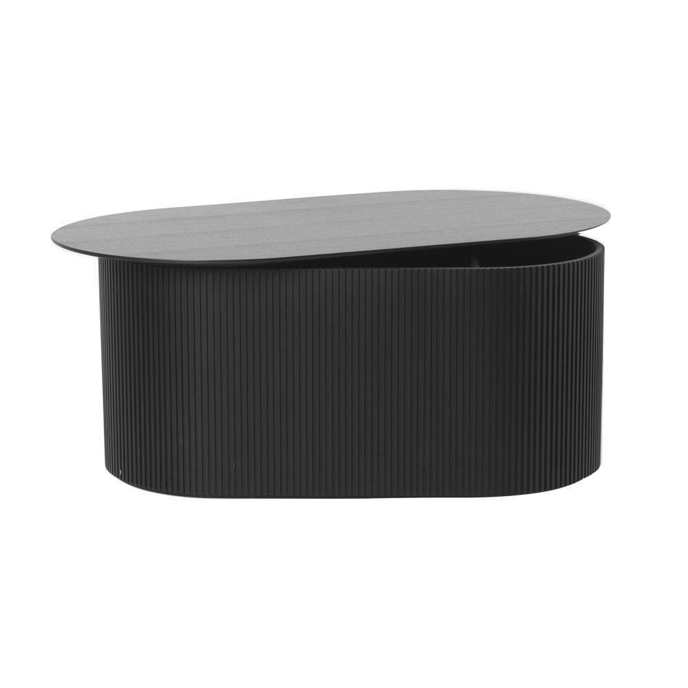 Ferm Living Table basse en bois noir 95x55x40cm