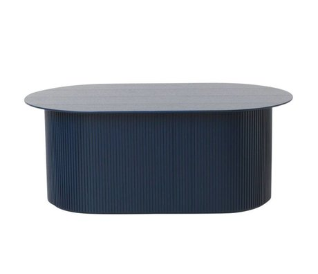Ferm Living Coffee table stages dark blue wood 95x55x40cm
