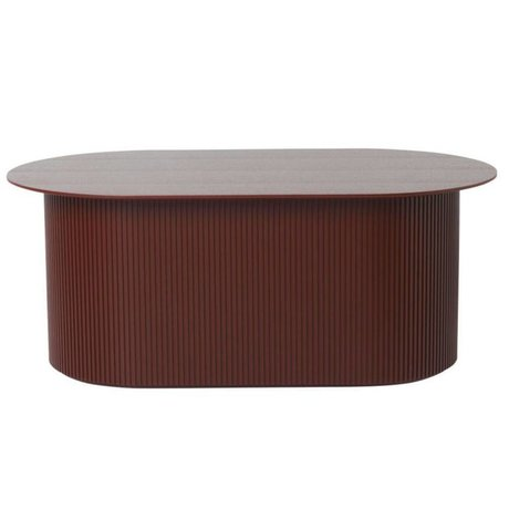 Ferm Living Coffee table Podia red brown wood 95x55x40cm