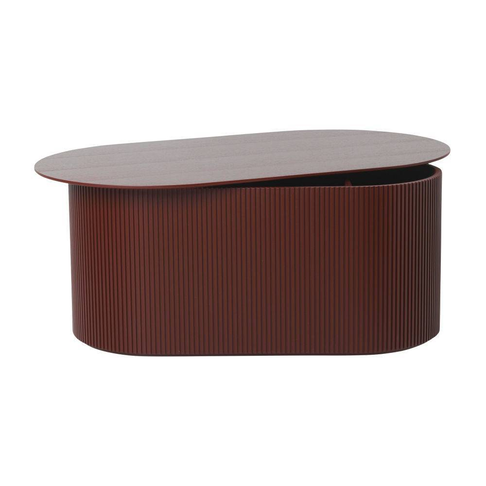 - Ferm Living Coffee Table Podia Red Brown Wood 95x55x40cm