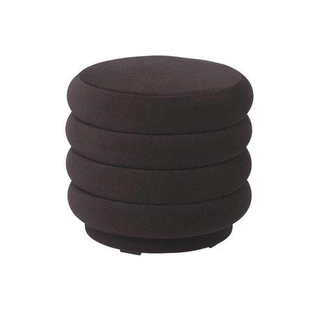 Ferm Living Pouf Round chocolate brown velvet S Ø42x40cm