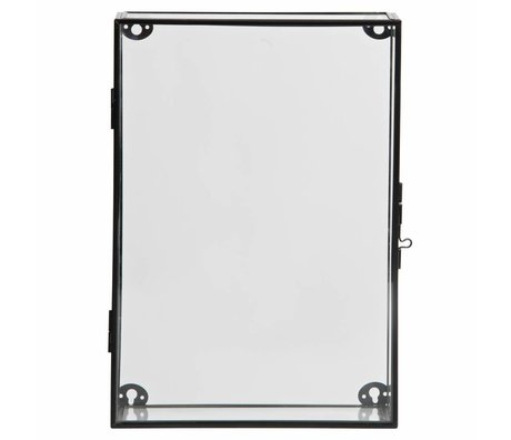 LEF collections Charlie cabinet cabinet metal / glass black