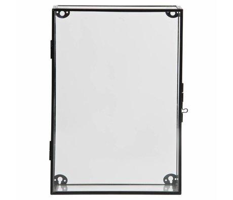 LEF collections Charlie vitrine schrank metall/glas schwarz