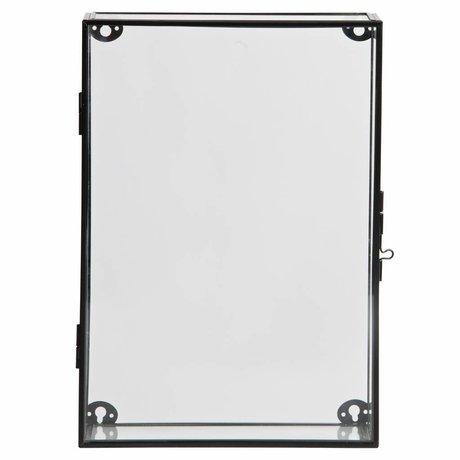LEF collections Charlie cabinet cabinet in metallo / vetro nero