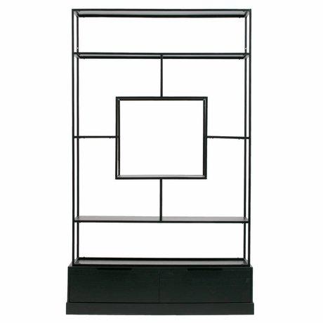 WOOOD Fons cabinet metallo / legno nero