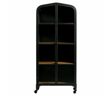 WOOOD Lori metal cabinet with wooden shelves