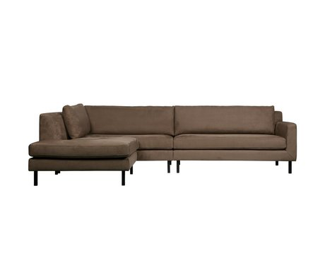 WOOOD Nate corner couch left taupe