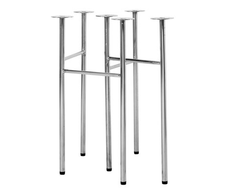 Ferm Living Table legs Mingle W68 chrome metal set of 2