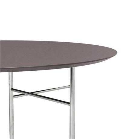 Ferm Living Tischplatte Mingle Round Taupe Holz Linoleum Ø130x2,5cm