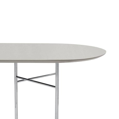 Ferm Living Plateau Mingle Ovale 150cm Linoléum en bois gris clair 150x75x2,5cm