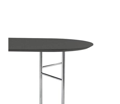 Ferm Living Tischplatte Mingle Oval 220cm dunkelgraues Holz Linoleum 220x75x2,5cm