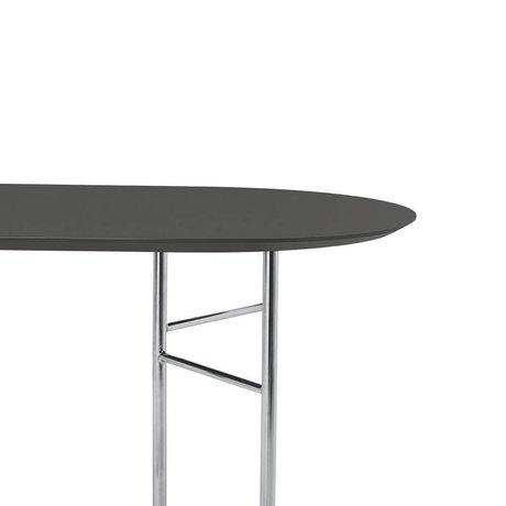 Ferm Living Tabletop Mingle Oval 220cm dark gray wood linoleum 220x75x2,5cm