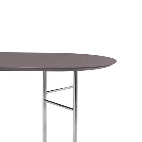 Ferm Living Linge de table ovale 220cm linoléum en bois taupe 220x75x2,5cm