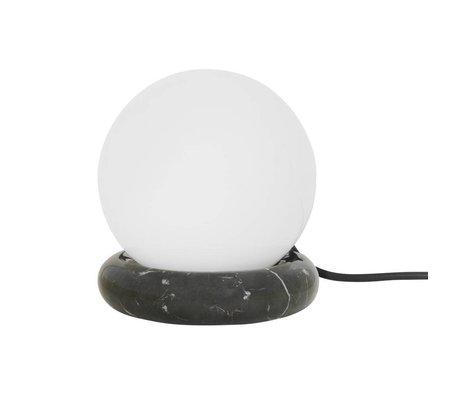 Ferm Living Tischlampe Rest schwarz Marmor Glas Ø15x16cm